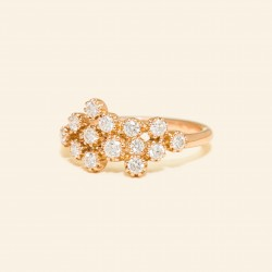Or rose 18 Carats, diamant