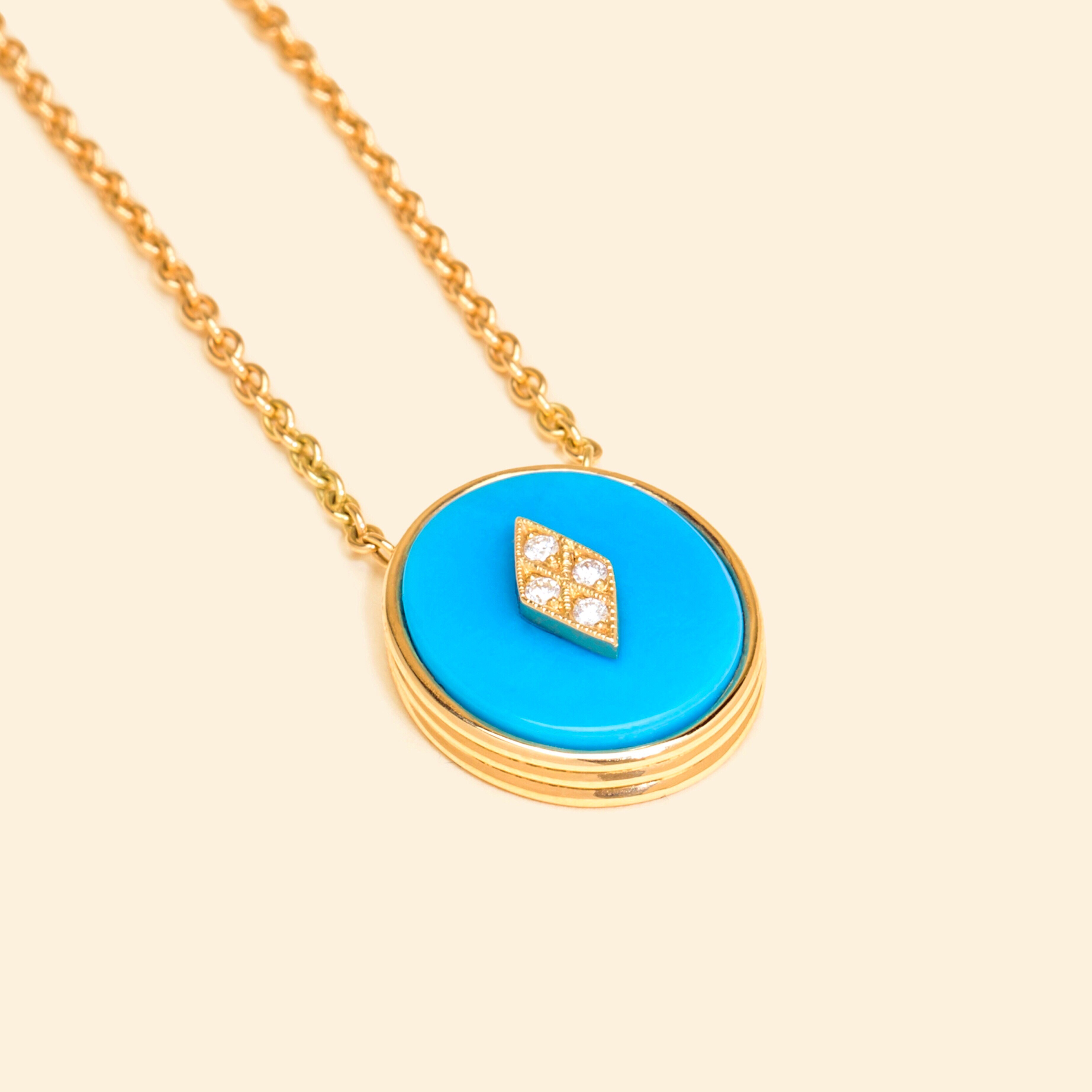 Or Jaune, 18 carats, Turquoise