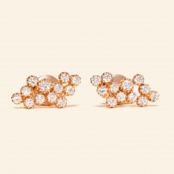 Or Rose 18 carats, Diamants